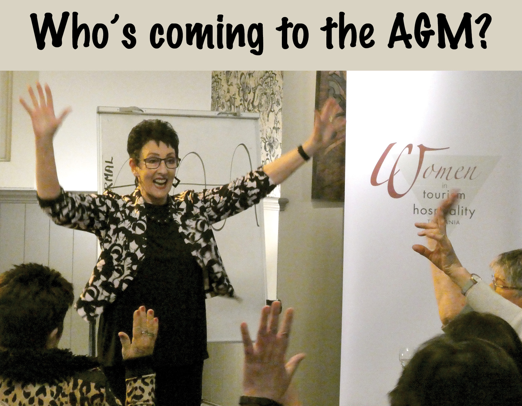Invitation to AGM photo of Robyn Moore