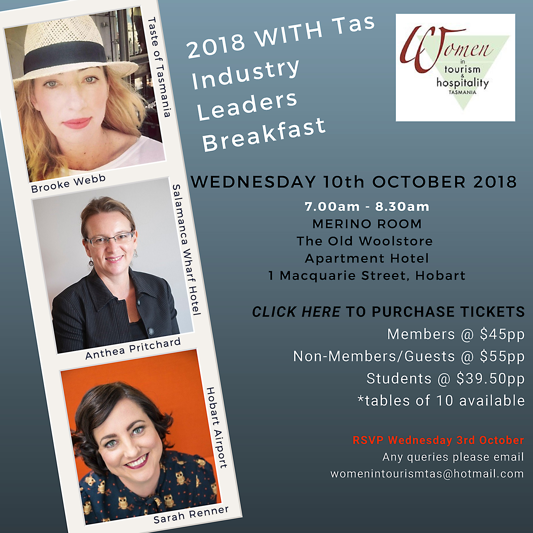 Women in Tourism & Hospitality Tasmania - Leaders Breakfast 2018
